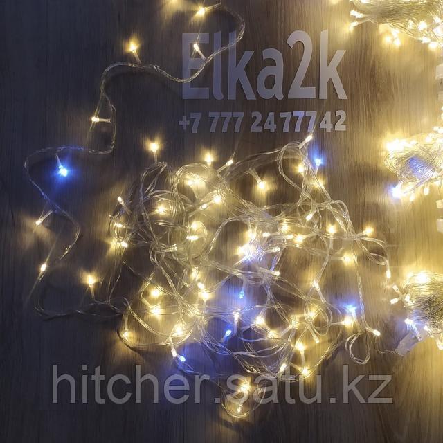 """Гирлянда """"Нить МИКС"""" 50 метров, тёплый-белый свет"""