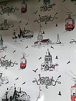 Красивая скатерть клеенка Город Стамбул, коллекция города и страны