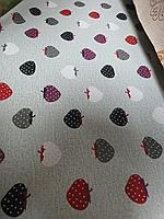 Скатерть клеенка для стола, модные клубнички, оригинальный подарок