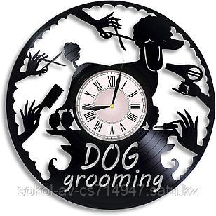 Настенные часы Груминг Grooming стрижка собак, котов, животных, подарок фанатам, любителям, 2929