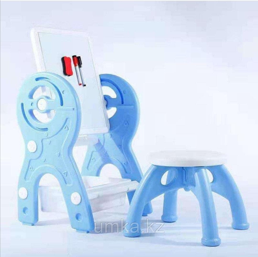Мольберт трансформер 2 в 1. Мольберт + стол + стул