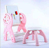 Мольберт трансформер 2 в 1. Мольберт + стол + стул, фото 2