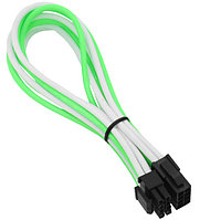 Удлинитель Nanoxia 8-pin EPS, 30см, Зеленый-белый green-white