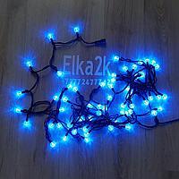 """Светодиодная гирлянда """"Шарики"""" 9 метров, синий цвет, 60 лампочек, светит постоянно"""