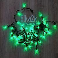 """Световая led гирлянда """"Шарики"""" 9 метров, зеленый цвет, 60 лампочек, светит постоянно"""