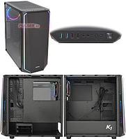 Корпус ATX midi tower Zalman K1, (без БП), Черный Case black