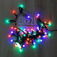 """RGB led гирлянда """"Шарики"""" 9 метров , разноцветная, 60 лампочек, светит постоянно"""