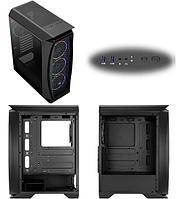 Корпус ATX midi tower AeroCool, Aero One Eclipse, (без БП), black Case