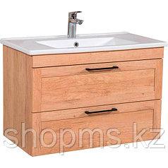 Мебель AQUARODOS ScandiSPA INARI 85 дуб небраска- шкаф под умывальник с умывальником ARTE 067500-u