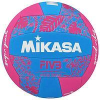 Мяч волейбольный пляжный MIKASA BV354TV-GV-BP, синтетическая кожа (ТПЕ), машинная сшивка, 18 панелей,