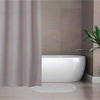 Набор для ванной SAVANNA «Селест»: штора 180×180 см, ковёр 38×69 см, цвет серебристый