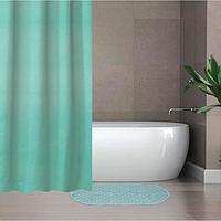 Набор для ванной SAVANNA «Селест»: штора 180×180 см, ковёр 38×69 см, цвет морской волны