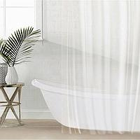 Штора для ванной комнаты SAVANNA «Лёд», с люверсами, 180×180 см, PEVA, прозрачная