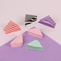 Набор спонжей для макияжа «Треугольники», 6 шт, цвет МИКС