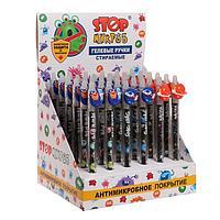 Ручка гелевая автоматическая 0.5мм «Пиши-стирай. StopМикроб» Космическая погоня, чернила синие, микс