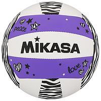 Мяч волейбольный пляжный MIKASA VXS-ZB-PUR, синтетическая кожа (ТПУ), машинная сшивка, размер 5, цвет