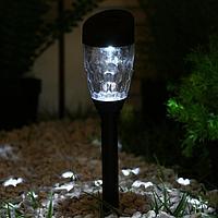 Фонарь садовый на солнечной батарее 35 см, d-5.5 см, 1 led, пластик