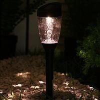 Фонарь садовый на солнечной батарее 35 см, d-5.5 см, 1 led, пластик, т-белый