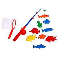 """Рыбалка """"Веселая рыбалка"""" 1 удочка, 6 рыбок, сачок , в ПАКЕТЕ"""