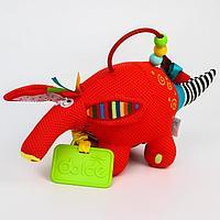 Развивающая игрушка 'Малыш муравьеда', с прорезывателем и погремушкой - шуршалкой