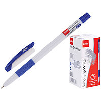 Ручка шариковая Cello 'Slimo Grip white body ' 0,7 мм, грип, стержень синий (комплект из 50 шт.)