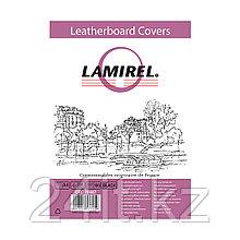 Обложки Lamirel Delta A4 LA-78687, картонные, с тиснением под кожу , цвет: черный, 230г/м², 100шт