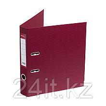 Папка–регистратор Deluxe с арочным механизмом, Office 2-WN8, А4, 50 мм, бордовый