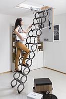 Чердачная лестница металлическая ножничного типа FAKRO LST 70*80*280 Факро т.+7 707 570 5151