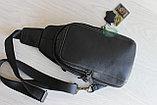 Мужская барсетка, кобура, сумка слинг из натуральной кожи НТ, фото 7