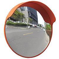 Зеркало сферическое (800 диаметр) с козырьком (уличное), в комплекте с кронштейном для крепления