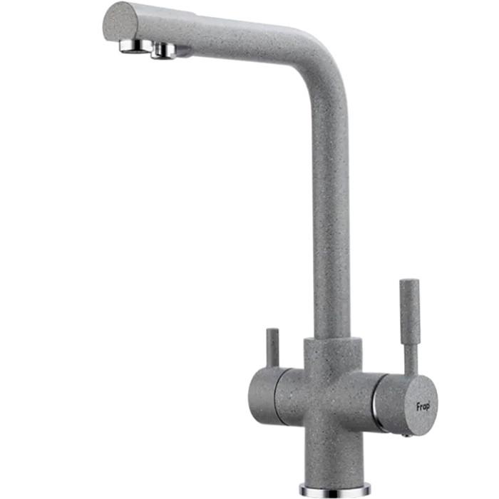 Смеситель для кухни FRAP H52 F4352-22 с подключением к фильтру (темно-серый)