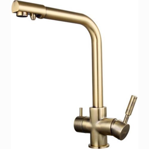 Смеситель для кухни FRAP H52 F4352-4 с подключением к фильтру (бронза)