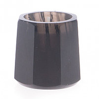 Подсвечник из черного обсидиана со свечой 6х6х5,5 см