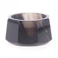 Подсвечник из обсидиана со свечой 5,5х5,5х3 см