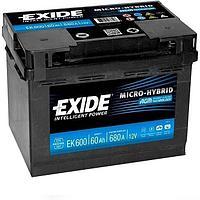 Системы Start-Stop EXIDE Micro-Hybrid AGM EK600