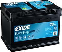 Системы Start-Stop EXIDE Micro-Hybrid AGM EK700