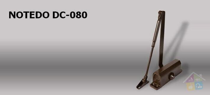 Доводчик NOTEDO DC 80 коричневый\серебро\белый