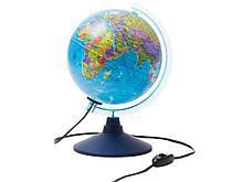 Глобус политический Globen, 21 см, c подсветкой  на круглой подставке