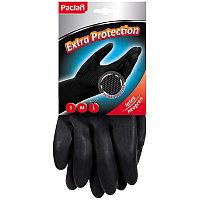 """Перчатки неопреновые Paclan """"Extra Protection"""", L, 1 пара, хозяйственные, х/б напыление"""