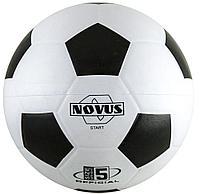 Мяч футбольный Novus START,резина, бел/чёрн, р.5