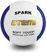 Мяч волейбольный Atemi, SPARK, синтетическая кожа Microfiber, бел/син.