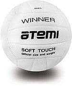 Мяч волейбольный Atemi, WINNER, синтетическая кожа PU soft, бел.