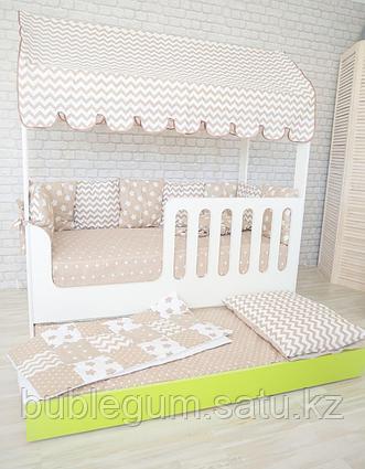Кровать Домик к со вторым выкатным спальным местом  160/80 и 150/70
