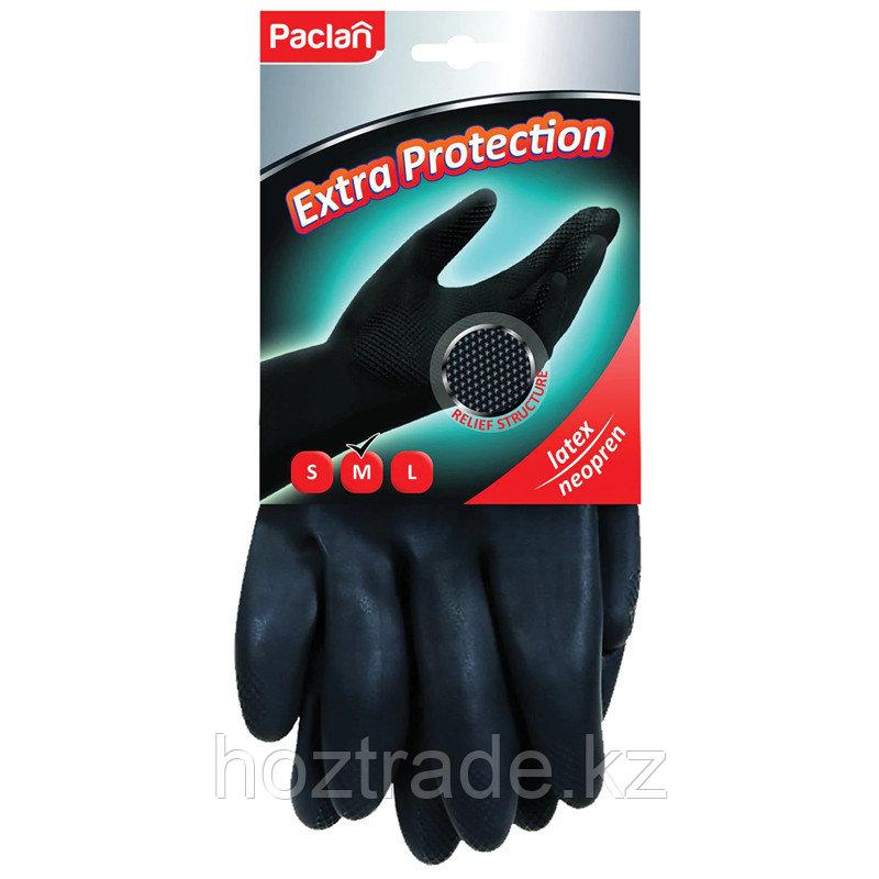 """Перчатки неопреновые Paclan """"Extra Protection"""", M, 1 пара, хозяйственные, х/б напыление"""