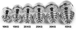 Гантели разборные Хром пара 30+30 кг, фото 2
