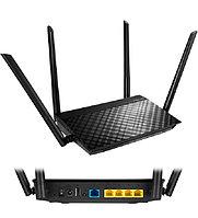 Беспроводной маршрутизатор ASUS RT-AC58U черный Wireless router ver. V3 WiFi 5 (1200M) (4+1) x 10/100/1000