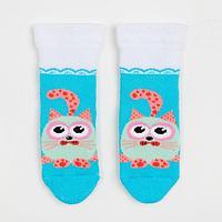 Носки детские махровые, цвет светло-бирюзовый, размер 11-12