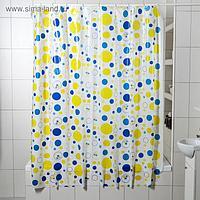 Штора для ванной комнаты «Заряд энергии», 180×180 см, полиэтилен
