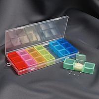 Органайзер для рукоделия, 7 Органайзеров по 3 отделения, 19 × 8 × 2 см, цвет МИКС
