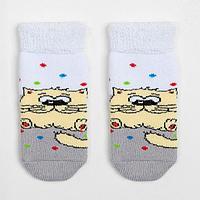 Носки детские махровые, цвет светло-серый, размер 11-12
